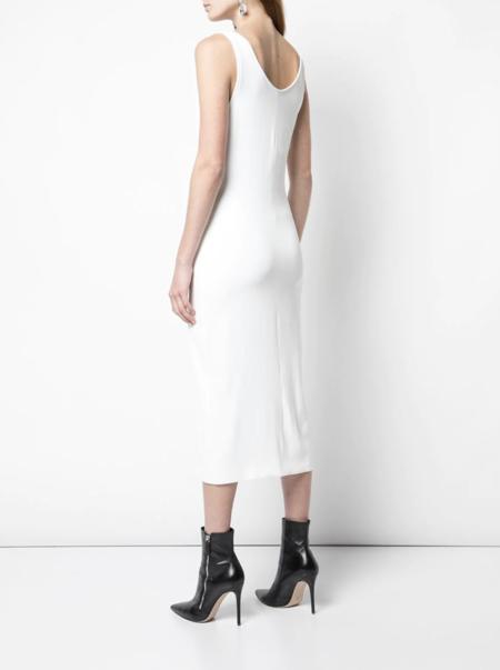 Mugler Front Fastening dress - white