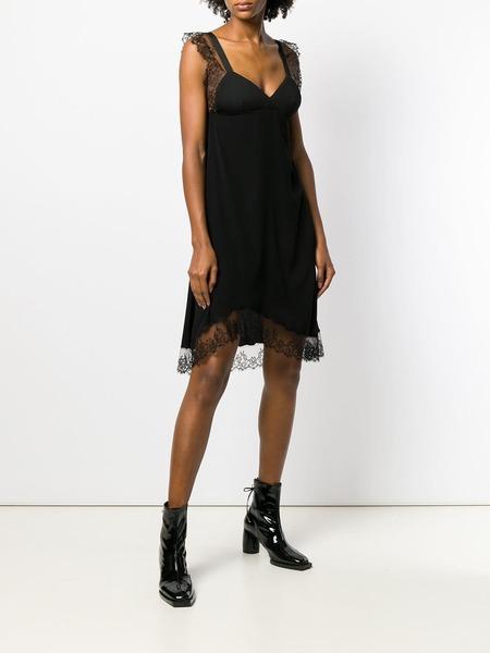 Neil Barrett Lace Detail Dress - black