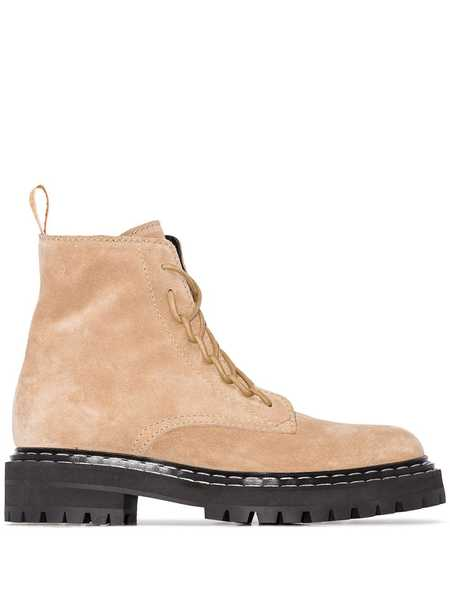 Proenza Schouler Lace Up Boots - Natural