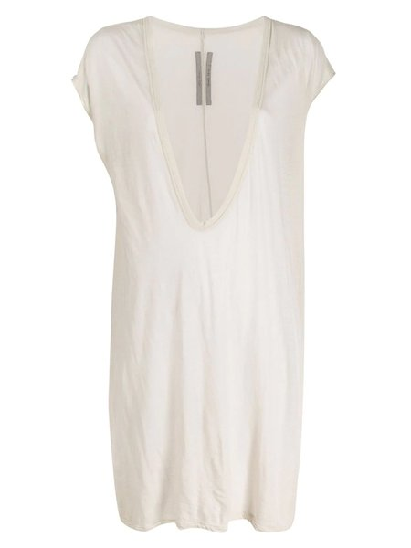 Rick Owens Oversized Plunge-Neck Top - Oyster Grey