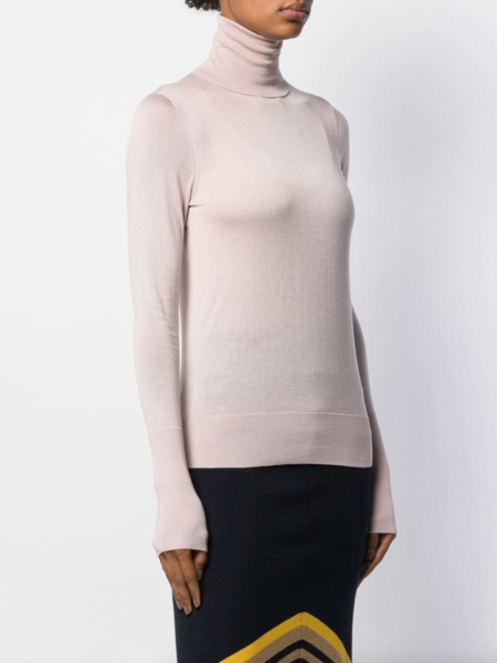 Victoria Beckham Slim-Fit Knit Turtleneck - pink