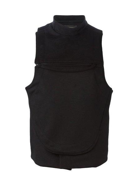Ann Demeulemeester Virgin Wool Cashmere WaldenWaistcoat - Black
