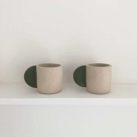 Emma de Clercq Brutes ceramics Large cup - gloss glaze/green