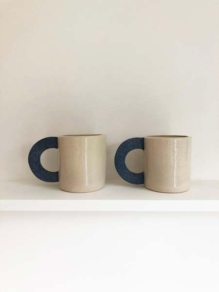 Brutes ceramics cup - natural/Denim blue