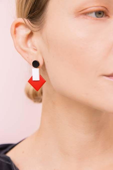 MATTER MATTERS Boha earrings - Red