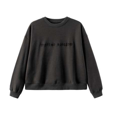 MATTER MATTERS The objects sweatshirt - Black