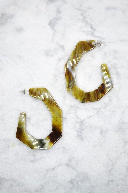 Rachel Comey Factor Earrings - Moss
