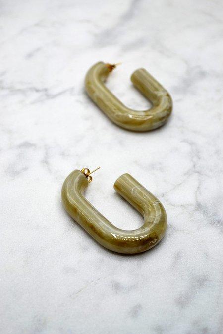 Rachel Comey Small Keeper Earrings - Oatmeal