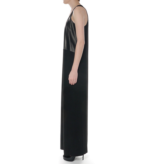 Mason By Michelle Mason Leather Front Jersey Dress