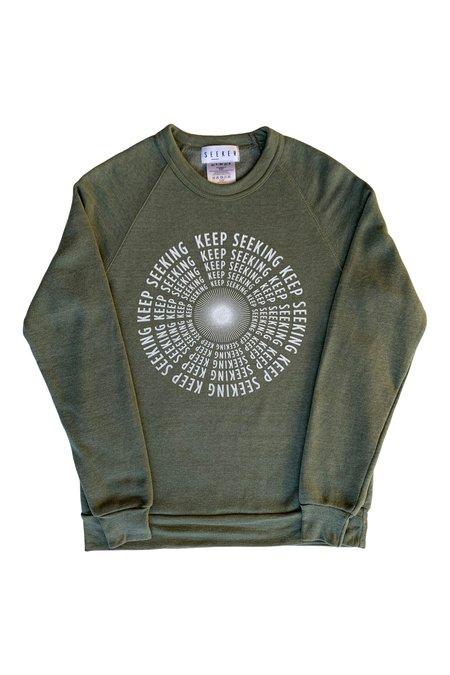 SEEKER Keep Seeking Sweatshirt - Army