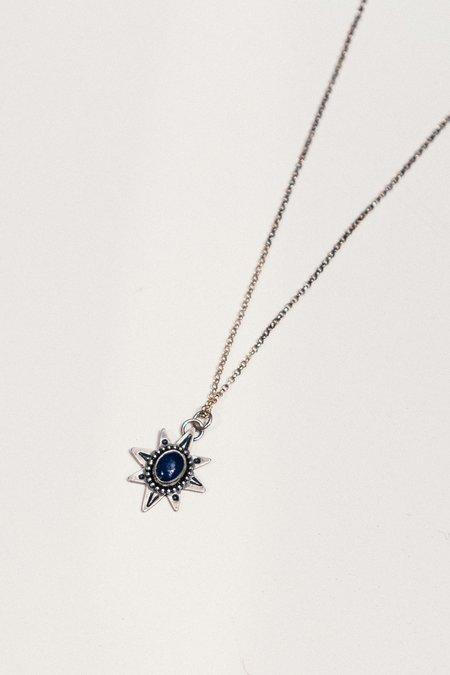 Blue & Blue Lapis Star Necklace
