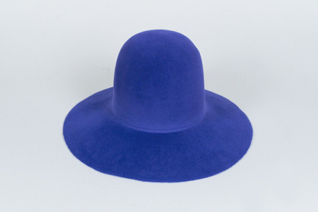 Clyde Wide Brim Dome Hat in True Blue