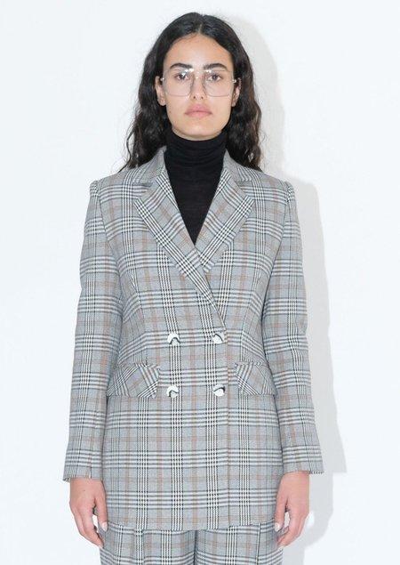 OhSevenDays Blair check blazer - Gray