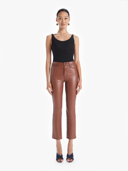 Mother Denim The Insider Faux Show Ankle Pant - Tortoise Shell
