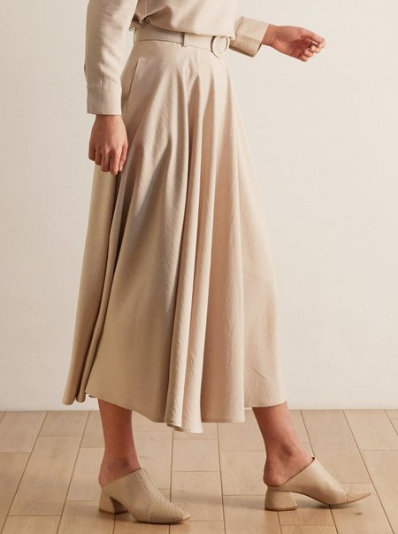 THE ODELLS Circle Skirt - SAND