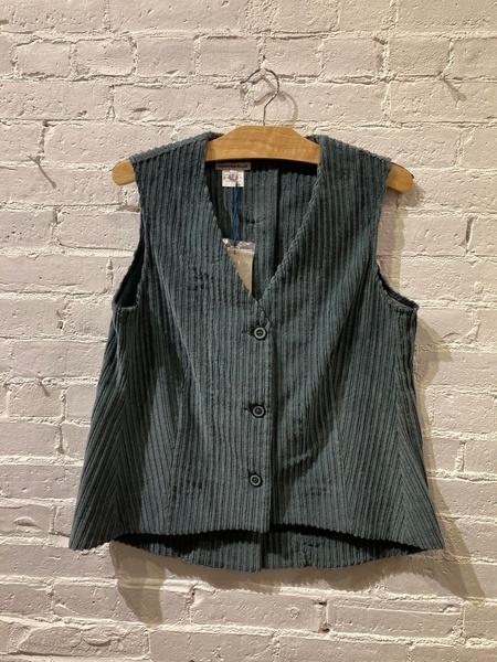 Echappées Belles Corduroy Vest - gray