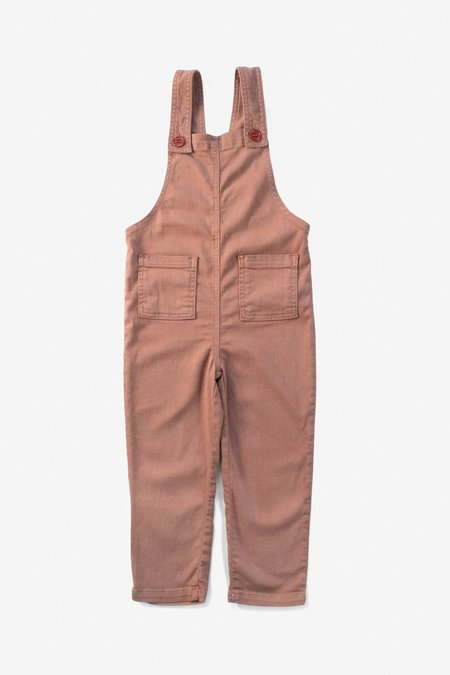 Kids North Of West Park Overalls - Terracotta