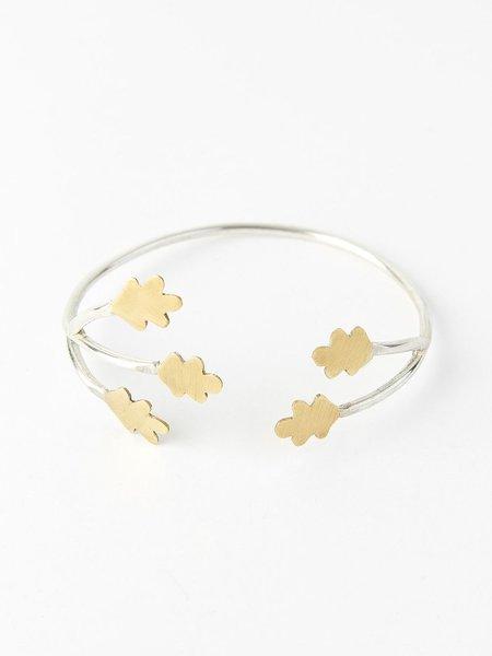 Ombre Claire bracelet brachnettes - silver bronze