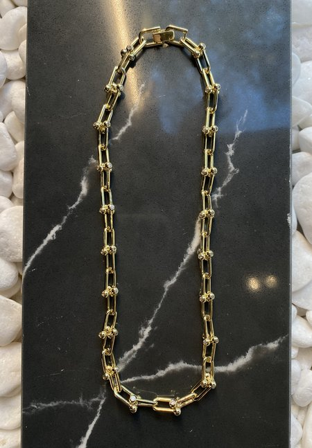 SS JEWELRY Thick Ball and Chain Link Necklace