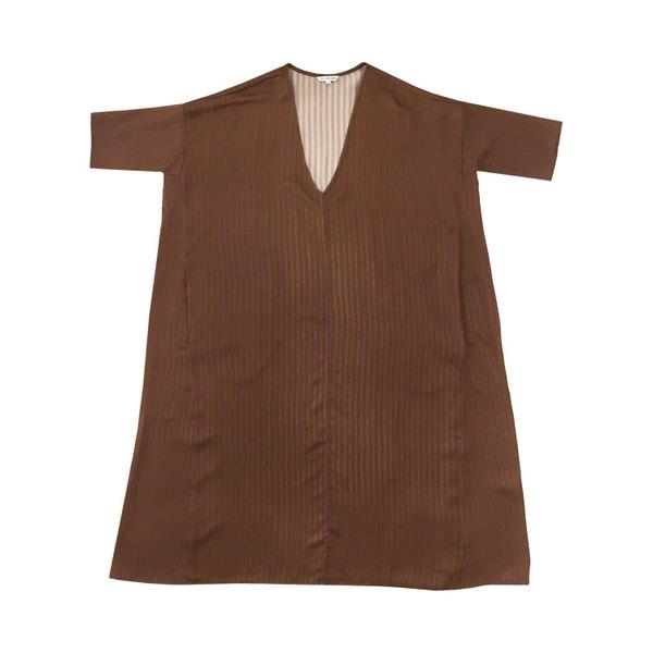 Ali Golden KIMONO DRESS - RUST STRIPE