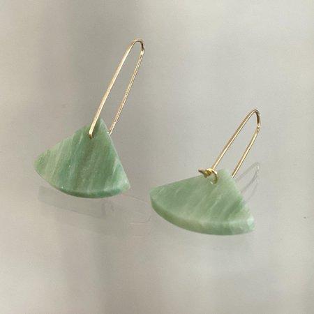 ALISON JEAN COLE Single Stone Earrings - Aventurine