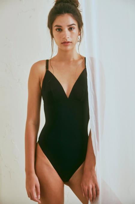 The Great Eros lugano bodysuit - black