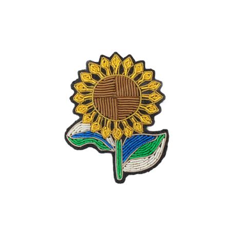 Macon & Lesquoy Sunflower Pin - Yellow