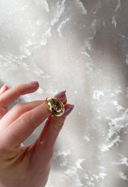 SS JEWELRY Dome Ring - Gold
