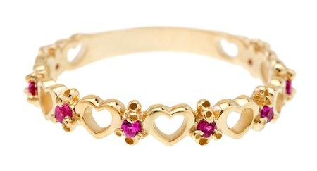 Ruta Reifen Dots Hearts Ring - Ruby