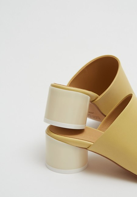 Maison Margiela MM6 Nappa Leather Sandal - Limelight