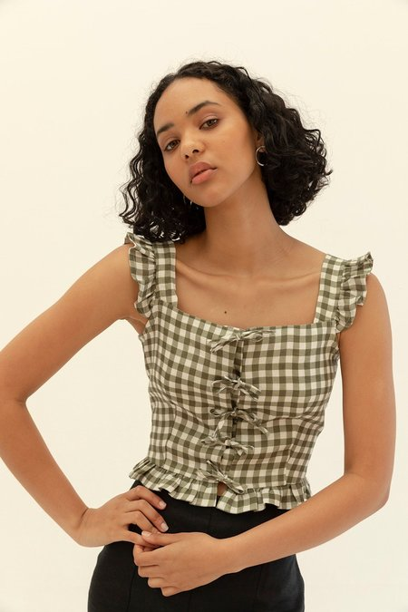 Muse the Label Isobel Frill Tank - Gingham