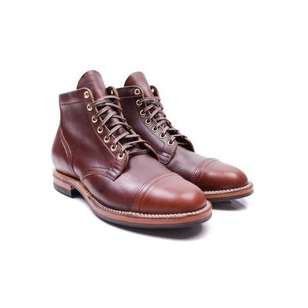 Viberg Unstructured Toe Service Boot - brown CXL