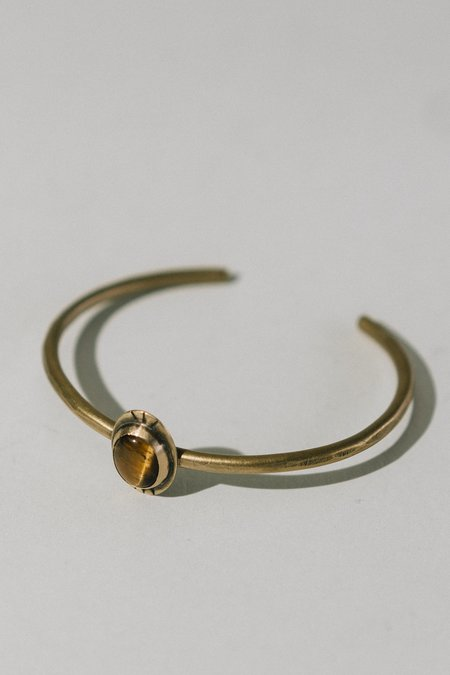 Rivet & Rise Brass and Tiger's Eye Cuff