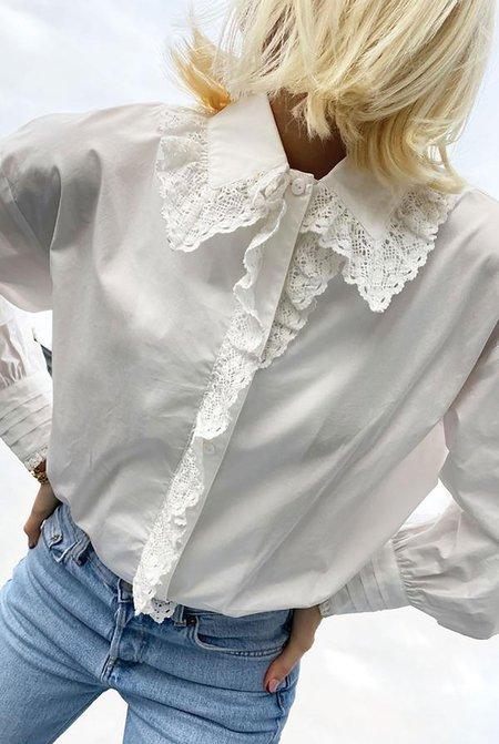 NEVER FULLY DRESSED Boxy Lace Shirt