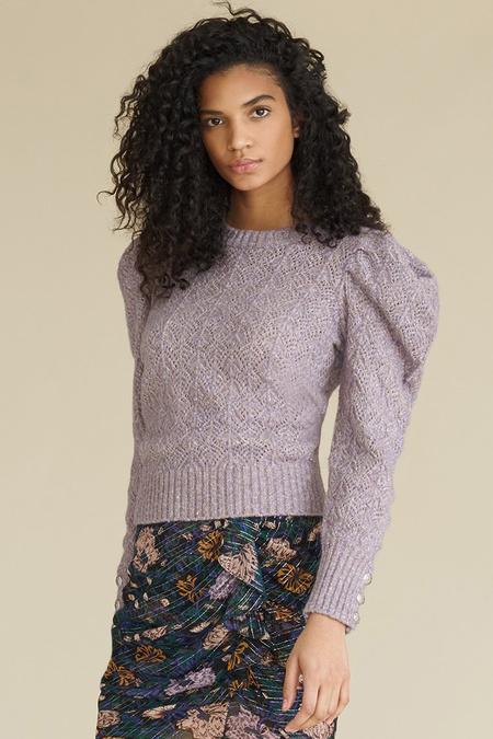 Veronica Beard Novah Crew Neck Sweater - Lilac