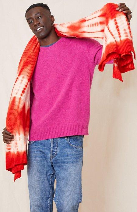 RON HERMAN Cashmere Tie-Dye Blanket/Throw