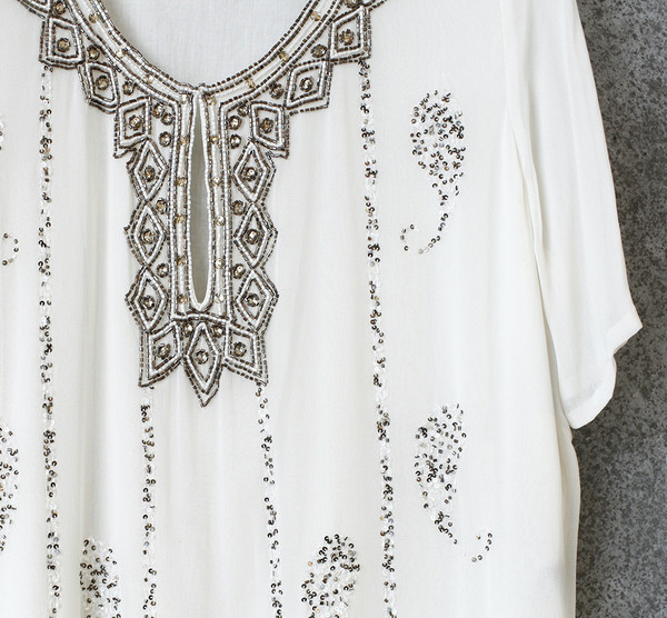 Antik Batik Beaded Top