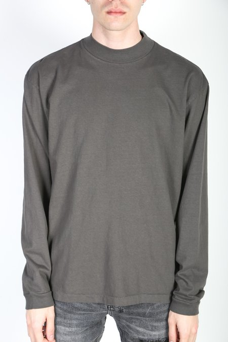 John Elliott 900 LS MOCK SWEATER - Charcoal