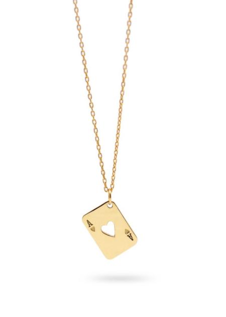 Futaba Hayashi Ace of heart necklace - gold