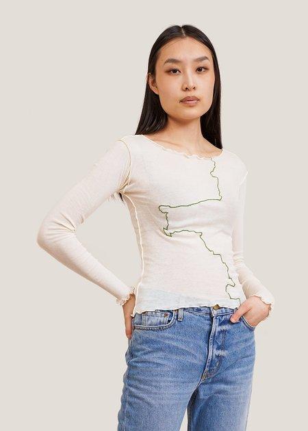 Baserange Gerrymandered Long Sleeve - Off-white