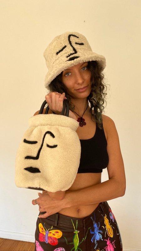 Dauphinette Face Vase Bag - Cream