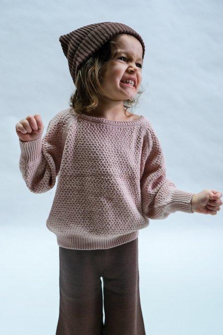 Kids Raised By Water Everyday Sweater - Rose Smoke