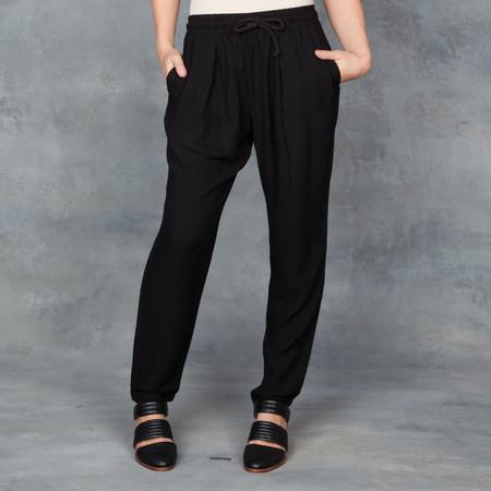 Black Crane Slim Pant with Draw Tie