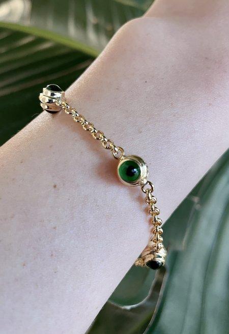 Nicole Kwon Concept Store Evil Eye Bracelet - Evergreen