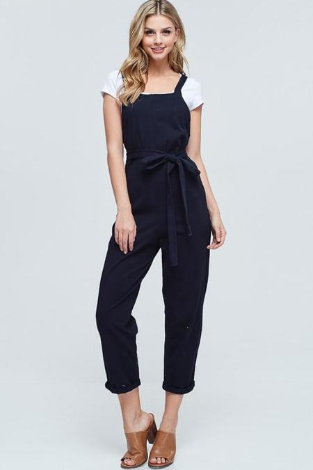 Maronie Cotton Jumpsuit - Black