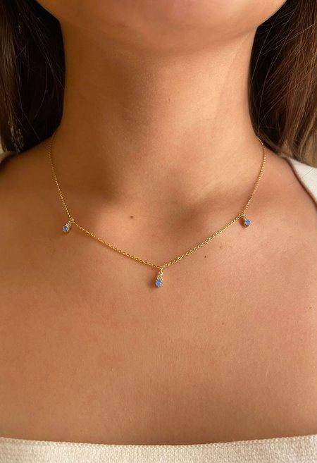 Nicole Kwon Concept Store Opal Drop Necklace - 14K Gold Vermeil