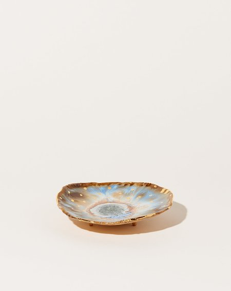 Minh Singer Extra Small Footed Iceland Dish with Gold Dots