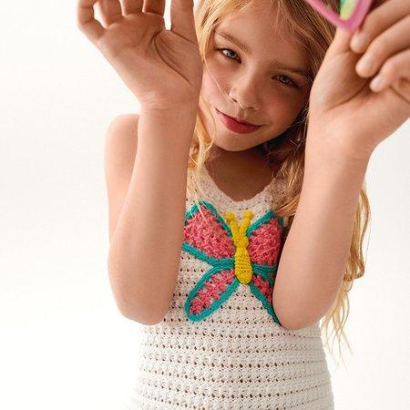 Kids STELLA MCCARTNEY Crochet with Butterfly Patch Top