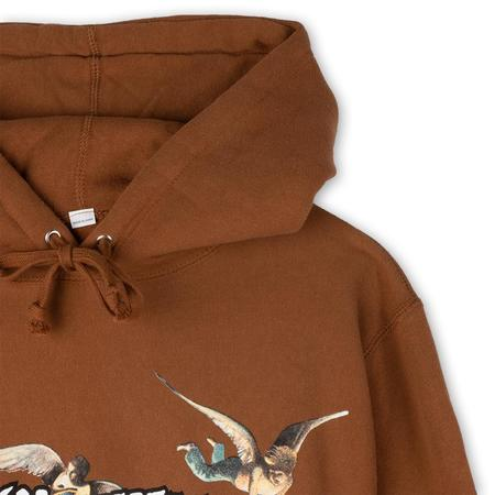 Fucking Awesome Angel Stamp Pullover Hoodie - Saddle