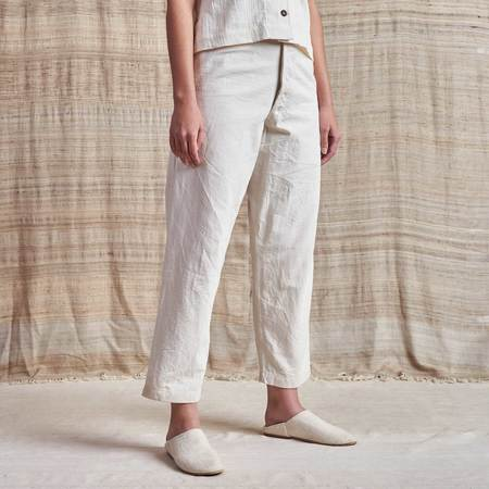 Story Mfg Undyed Organic Canvas British Jeans